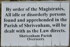 Old 'By order of Magistrates' sign