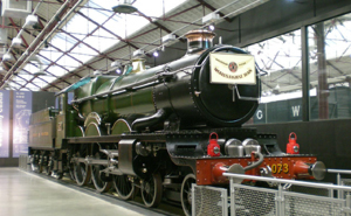 Caerphilly Castle locomotive at Steam Museum
