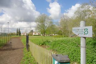 Shrivenham Circular Walk sign near Recreation Ground